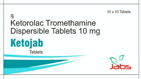 ketojab - KETOROLAC TROMETHAMINE DISPERSIBLE TABLETS 10MG