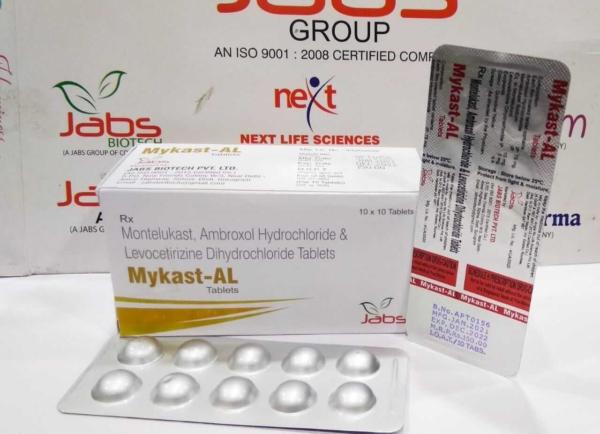 mykast al - AMBROXOL 75MG +LEVOCETIRIZINE 5MG + MONTELUKAST 10 MG